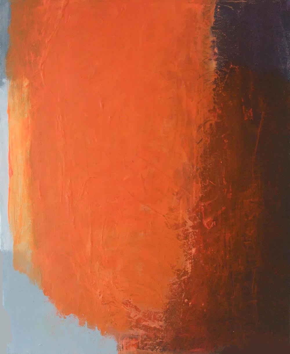 Orange kraftvoll  30x24 cm