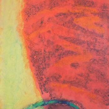 Bewegtes Rot mit Gelb 30x24 cm