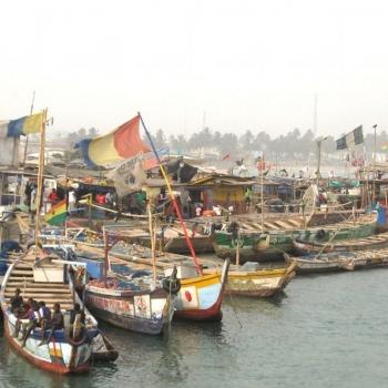 Elmina Fischerei-Hafen