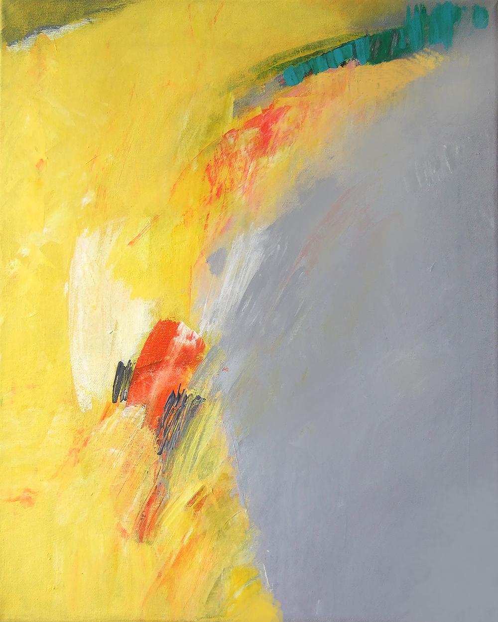 Gelb und Grau30x24 cm