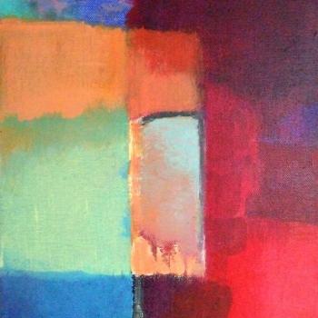 Tor zwischen Farben 30x24 cm