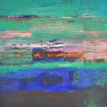 Erdgespräch VII 60x60 cm
